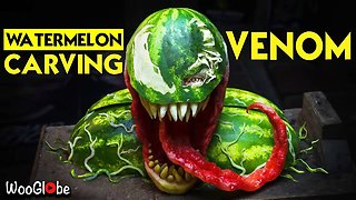 Amazing : Venom Carving On Watermelon