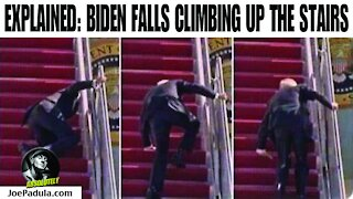 Video Explained: Joe Biden Falls Going Up The Stairs of Air Force One
