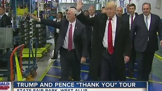 Trump, Pence bring thank-you tour to West Allis - Video