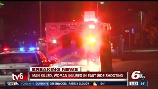 1 killed in double shooting on Indy's east side - Video