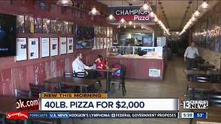 NYC pizza shop offering $2K pizza