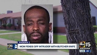 Valley mom fights off intruder