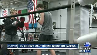 CU professor, students say university refused to have boxing event on campus - Video