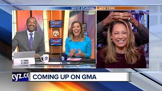 Having fun with Ginger Zee and Robin Roberts