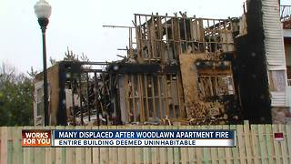 Woodlawn Apartment Fire - Video