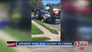 Video shows man hit in apparent road rage - Video