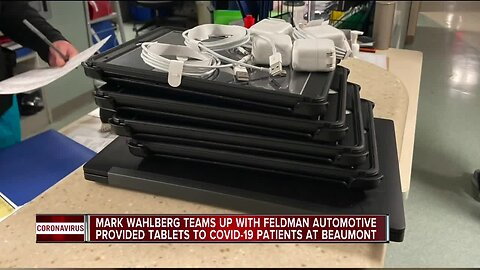 Mark Wahlberg, Feldman Automotive donate tablets for Beaumont patients
