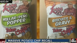 Shearer's Foods recalls chips made with affected seasonings due to potential salmonella - Video