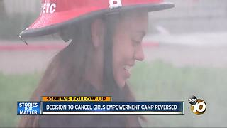Decision to cancel girls empowerment camp reversed - Video