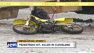 Pedestrian struck and killed by box truck on city's east side - Video