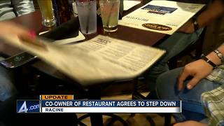 Racine restaurant co-owner steps down after FB post - Video
