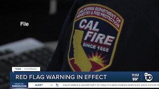 Red flag warning in effect