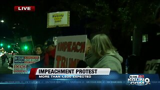 Hundreds gather downtown for impeachment protest