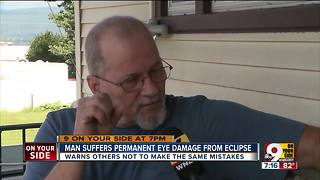 Man suffers permanent eye damage from eclipse - Video