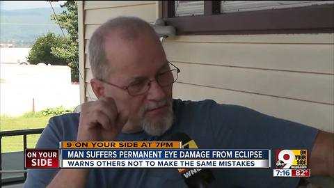 Man suffers permanent eye damage from eclipse