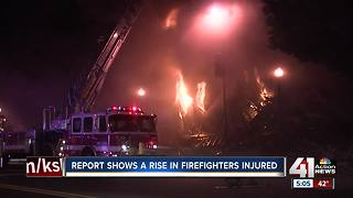 KCFD sees sharp rise in injuries among firefighters - Video