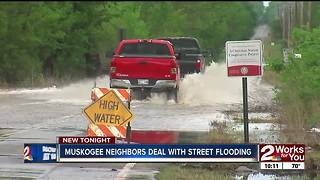 Rainfall closes roads on Muskogee's south side - Video