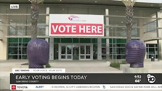 Early voting begins in San Diego County