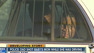 Father shoots mother while she was driving baby - Video