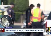 Teens trapped in car after west Phoenix accident - Video