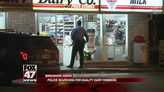 Police looking for men who robbed Quality Dairy - Video