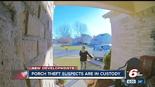 Suspects in Plainfield package thefts arrested - Video