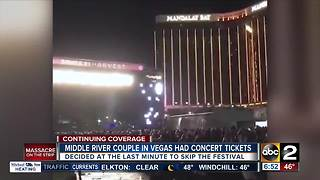 Baltimore County couple misses Harvest Festival after making trip to Las Vegas - Video