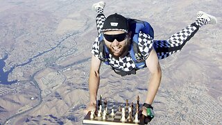 Chess-nuts Floating From An Open Flyer – Incredible Images Shows Skydiving Chess Master