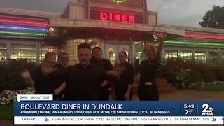"Boulevard Diner in Dundalk says ""We're Open Baltimore!"""