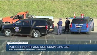 Suspect vehicle located in deadly hit-and-run of construction worker on I-94