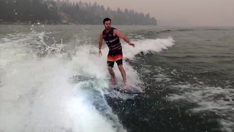 Wakeboarding challenge ends in epic fail