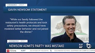 Gov. Gavin Newsom apologizes for attending birthday dinner