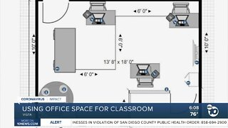 Company using office space for classrooms