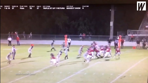 335-pound Offensive Lineman Throws Perfect Touchdown Pass On Trick Play