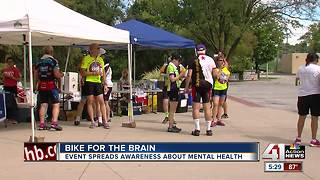 Cyclists come together to raise awareness on mental health