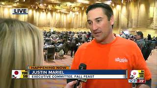 Volunteers feed thousands at this year's Fall Feast - Video