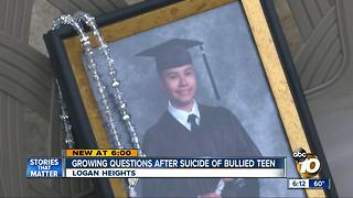 Questions emerge after suicide of bullied teen - Video