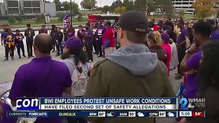 BWI employees protest unsafe work conditions