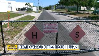 Sarasota County district wants to close busy roadway that cuts through school campus - Video