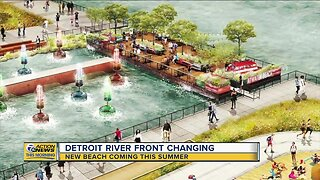 New beach coming to Detroit Riverfront this summer
