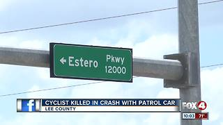 Cyclist Killed in Crash Involving Patrol Car - Video