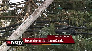 High winds cause significant damage to LaGrange in eastern Lorain County - Video