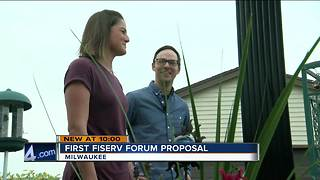 MKE couple first to get engaged at Fiserv Forum