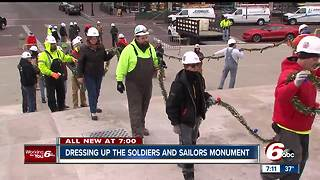 Circle of Lights installed on Monument Circle - Video
