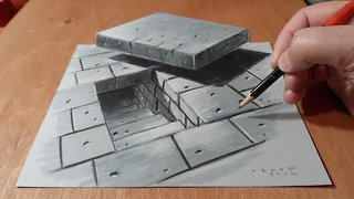 Drawing a 3D tunnel stairwell - Video