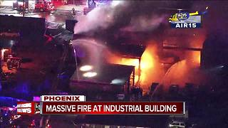 Industrial building goes up in flames south of Sky Harbor