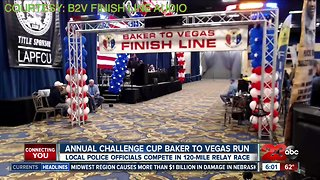 Local law enforcement officials compete in annual Baker to Vegas run