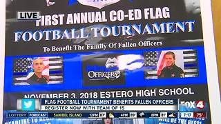 Flag Football Tournament to benefit families of fallen officers - 7am live report