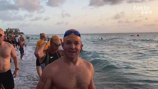 Jay finishes triathlon at a personal best pace - Video