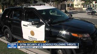 Extra security at 3 local schools amid threats